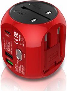Milool Reiseadapter mit Quick Charge 3.0